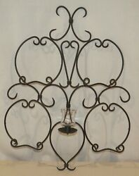 Partylite Retired Wall Sconce, Plate Or Towel Rack, With Glass Votive Peglite