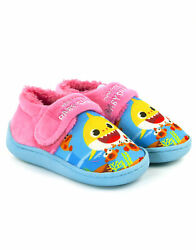 Pinkfong Baby Shark Pink Multicoloured Vibrant Girl#x27;s Kids Strap Slippers $21.75