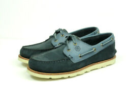 Handed Menand039s Casual Mocasin Blue/navy Nebuck Boat Shoes
