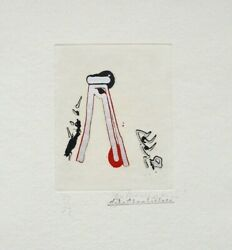 John Chamberlain Print `one Among Many` From `outer Signs Of Inner Grace` Suite