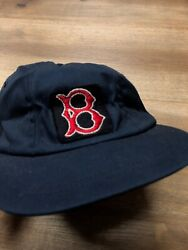Boston Red Sox Mlb Baseball Vintage 60s Leather Band Fitted Hat Cap Youth Xl