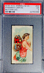 1888 N183 W.s. Kimball And Co. Butterflies Pyrameis Caryae 32 Psa 5 Ex
