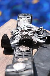 Pirate Belt In Sterling Silver With 8 Reale Dabloon Coins Very Big And Heavy