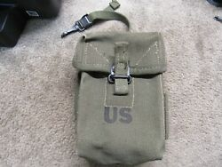 Us Early Vietnam Double Magazine Pouch For 7.62x51mm 308 Dated 1962 Od Canvas