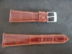 0 7 8in strap Alligator Real Brown quot; Gold quot; Fastening Fast Interchangeable
