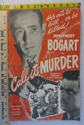 Movie Poster Press Campaign Promotional Books Humphrey Bogart In Call It Murder