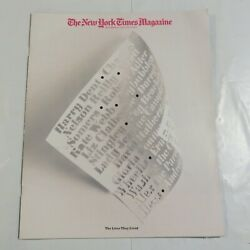 New York Times Magazine 2007 December The Lives They Lived Y1