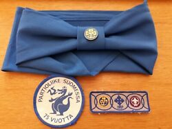 Boy Scouts Of Finland - 75 Years / Neckerchief / Scarf Lot