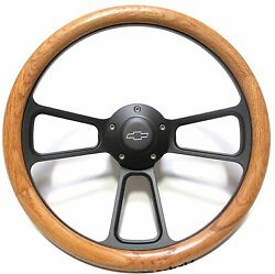 1967 -1969 Chevy Corvair Oak And Billet Steering Wheel Adapter Chevy Horn