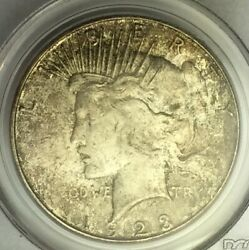 Toned Uncirculated 1923 S Peace Dollar Pcgs Ms63