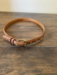 Women#x27;s Coach Cognac Brown Leather Thin Belt Size 30quot; Glove Tanned .7quot; Thick $28.00