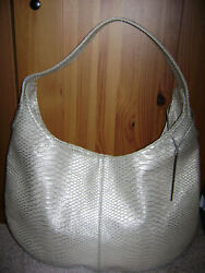 DEVI KROELL Metallic Gold Faux Python Hobo For Target Limited Edition $50.99