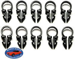 Ford 3/8 Engine Headlight Dash Horn Wiring Harness Hose Clamp Clips 10pcs Sp
