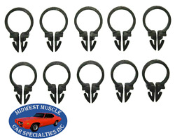 Ford 5/8 Engine Headlight Dash Horn Wiring Harness Hose Clamp Clips 10pcs Sr