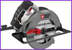 Porter Cable 7 1/4 Circular Saw Heavy Duty Steel Shoe 15 Amp Pce300