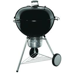 Weber Charcoal Grill 26 Inch Original Kettle Premium Black Built In Thermometer
