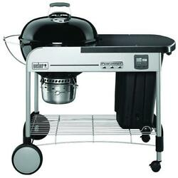 Weber Charcoal Grill Cooking Bbq 22 Inch Performer Premium Black Built In Timer