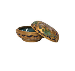 Antiquedecorative Small Gift Oriental Champleve Cloissonne Box
