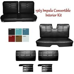 Custom Order 1963 Impala Convertible Front/rear Bench Seat Upholstery Panels