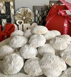 Homemade Cookies 50 Snowball Walnut Or Pecans cello bag gift 🎁