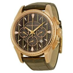 New Hamilton Rose Gold-tone Automatic Chronograh Menand039s Watch H34646591 Ship Free