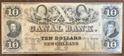 18xx New Orleans Louisiana The Canal And Banking Co 10 Obsolete Currency