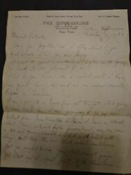 1932 Paul Quinn College Letter From Riley N Jackson Head Of Dept Of English