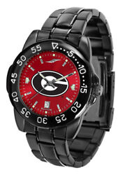Georgia Bulldogs Ncaa Licensed Men Fantom Anochrome Watch, Dog Tag And Wallet