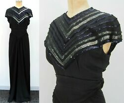 40s Sequin Rayon Evening Gown