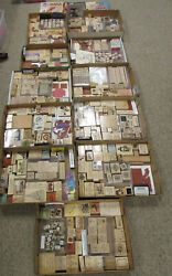 Large Lot Of Wooden Rubber Stamps Stampinand039 Up New And Pre-owned 650+