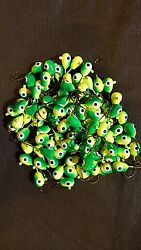 Floating Jigs 100 Size 1 Eagle Claw Hooks Walleye Bass Crappie Perch