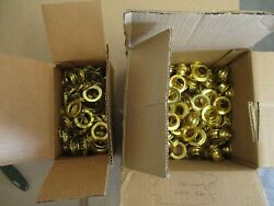 C.s. Osborne Brass Grommets And Spur Washers G2-6 Size 6 130 Sets