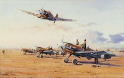 ROBERT TAYLOR Hunters in the Desert AP JG-27 - Me-109 ARTIST PROOF SOLD OUT!
