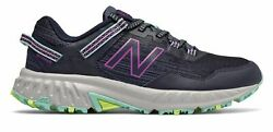 New Balance Womenand039s 410v6 Trail Shoes Navy With Purple And Blue