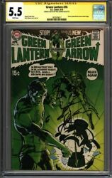 Green Lantern 76 Cgc 5.5 Signed And Sketch Neal Adams Classic 1957678017