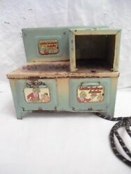 Marx Vintage Little Orphan Annie Childs Electric Metal Toy Stove Not Tested