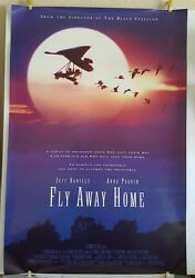 Fly Away Home Original 27x40 Movie Poster Home Theater Jeff Daniels Anna Paquin