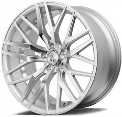 22 Silver Ex30 Alloy Wheels Fits Bmw 8 Series E31 Coupe Old Skool Wider Rear
