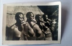 Rare Photo 1929 - African Women With Lip Plate From Jardin D'acclimatation