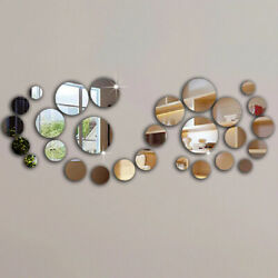 3D wall sticker mirror effect home decor living room bedroom kitchen various