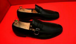849.00 Exclusive Menandrsquos Black Leather Horse Bits Loafers Marked Size 8