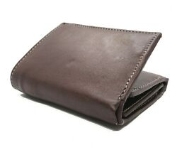 Brown Handcrafted Cowhide Leather Mens Trifold Premium Wallet Flap Top Gift Box $16.44