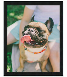 12x24 Black Wood Picture Frame - With Acrylic Front And Foam Board Backing