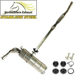 Stainless Steel Exhaust System With Bolts And Hangers Fits 2004-2005 Rav4 2.4l