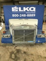 Blue 1989 Volvo/white/gmc Wim Hood Assembly W/ Grille Headlamps And Mirror