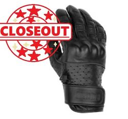 Black Brand - Bb7155 - Menand039s X-large - Black Leather Motorcycle Protector Gloves