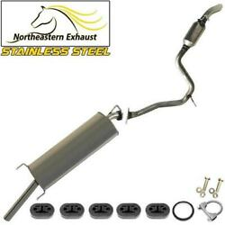Stainless Steel Exhaust System With Bolts And Hangers Fits 2006-2012 Rav4 2.4l