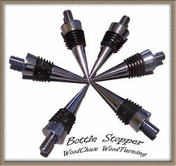 Bottle Stopper Kit Cone Triple Chrome Plated Lot Fast Shipping Woodturning