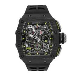 Richard Mille RM11-03 Black Carbon TPT Flyback Chronograph 50MM Watch RM11-03