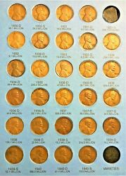 28 Coins From 1909-1940 Wheat Cent/penny Folder Page 3 No Folder